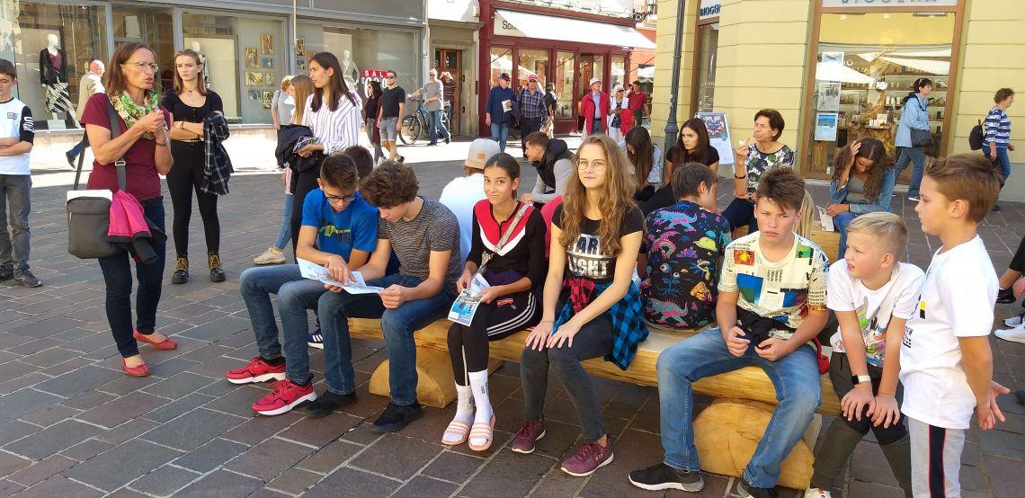 Voden ogled mesta Celovec za dijake novince
