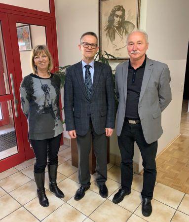 z leve/von links: Edith Velik, dr. Anton Novak, mag. Josef Blajs