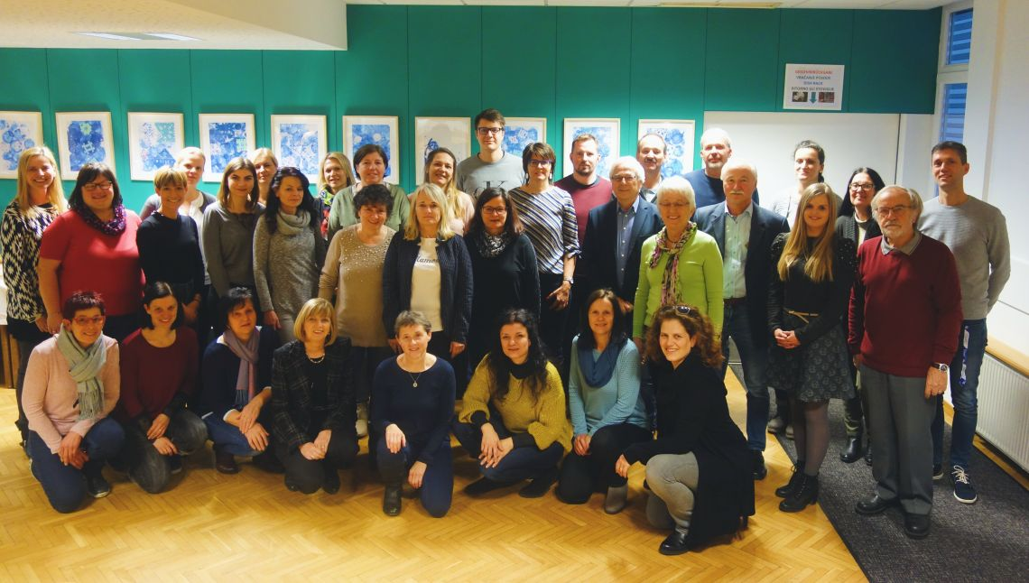 Ponovoletno srečanje zaposlenih in članov odbora v Slovenskem šolskem društvu