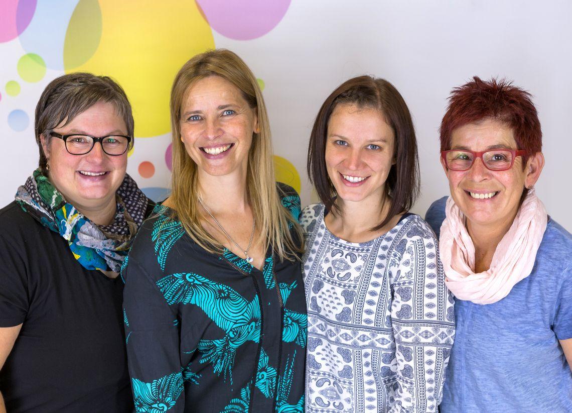 Od leve proti desni: Nadja Polzer, Sabine Berchtold, Sarah Kowatsch, Evelin Blažej