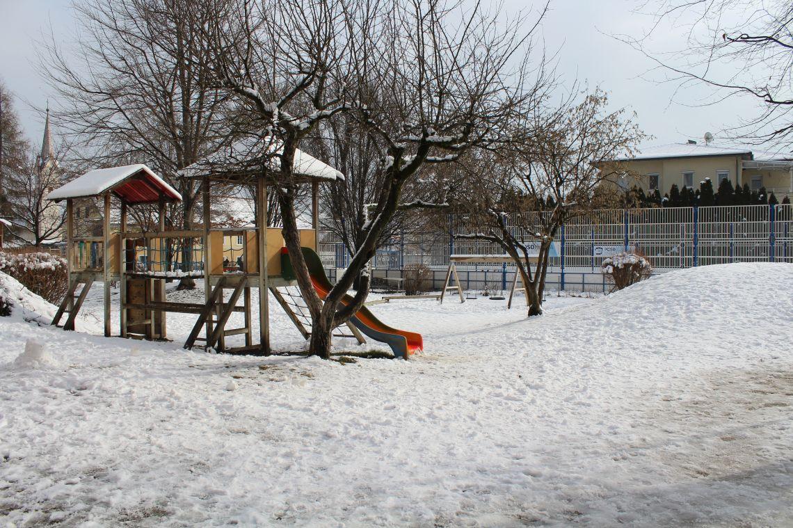 Naš vrt v snegu