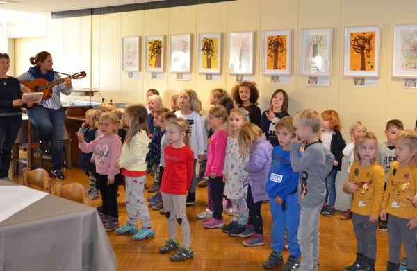 Otvoritev razstave likovnih del otrok iz vrtca Sonce