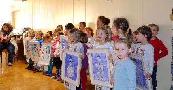 Otvoritev razstave likovnih del otrok iz vrtca Sonce (2. del)