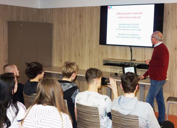 Informacijski sestanek za dijakinje in dijake Mladinskega doma