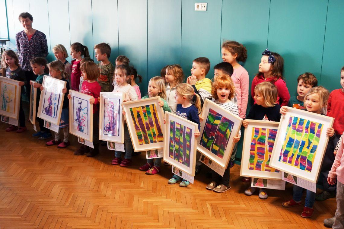 Otvoritev razstave likovnih del otrok iz vrtca Sonce (3. del)