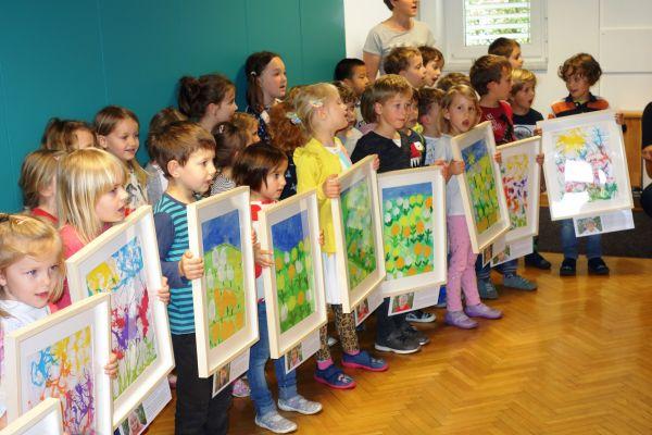 Otvoritev razstave likovnih del otrok iz vrtca Sonce (4. del)